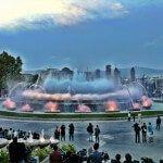 Fontana Magica di Montjuïc illuminato