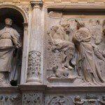 dettagli all'interno della Cattedrale di Barcellona