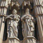 sculture facciata Cattedrale di Barcellona