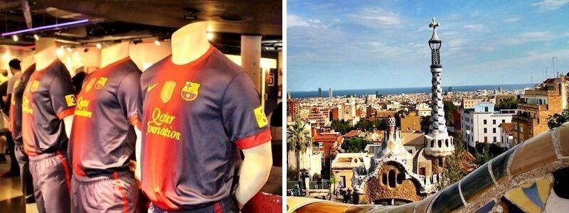 Camp Nou e Park Güell