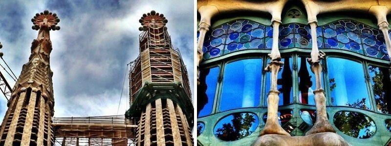 Casa Batlló e Sagrada Familia