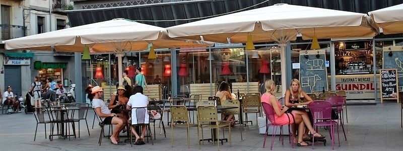 tavoli all'aperto Barceloneta