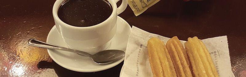 Churros con cioccolata calda