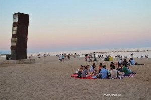 pic-nic spiaggia Barcellona