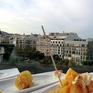 Terrazze hotel vista panoramica Barcellona