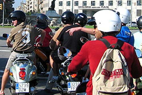 tour guidato scooter Barcellona