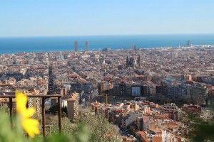 vista su Barcellona dalle Bunker