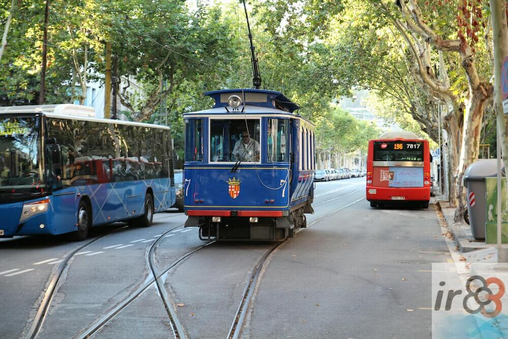 Tramvia Blau avinguda Tibidabo