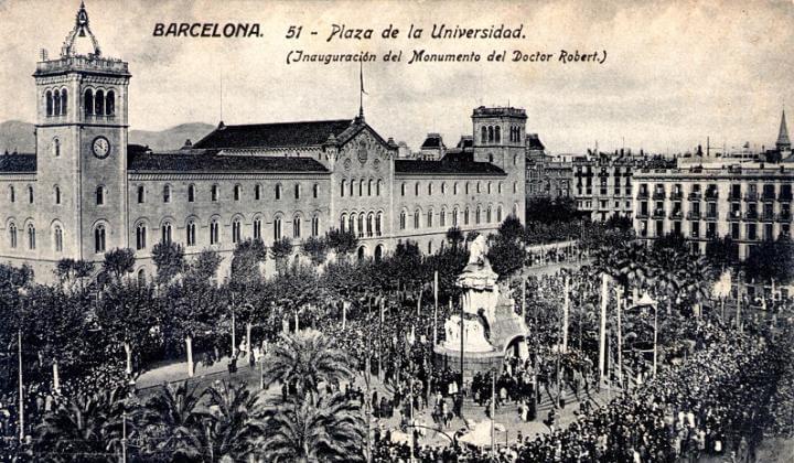 monumento Bartomeu Robert Plaça Universitat