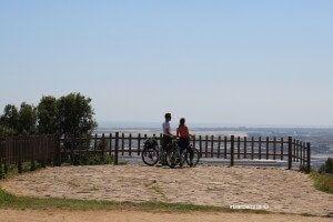 ciclisti Mirador del Migdia