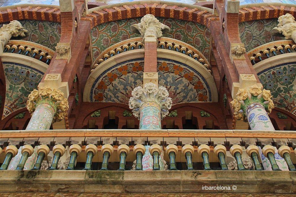 dettagli della facciata del Palau de la Música Catalana