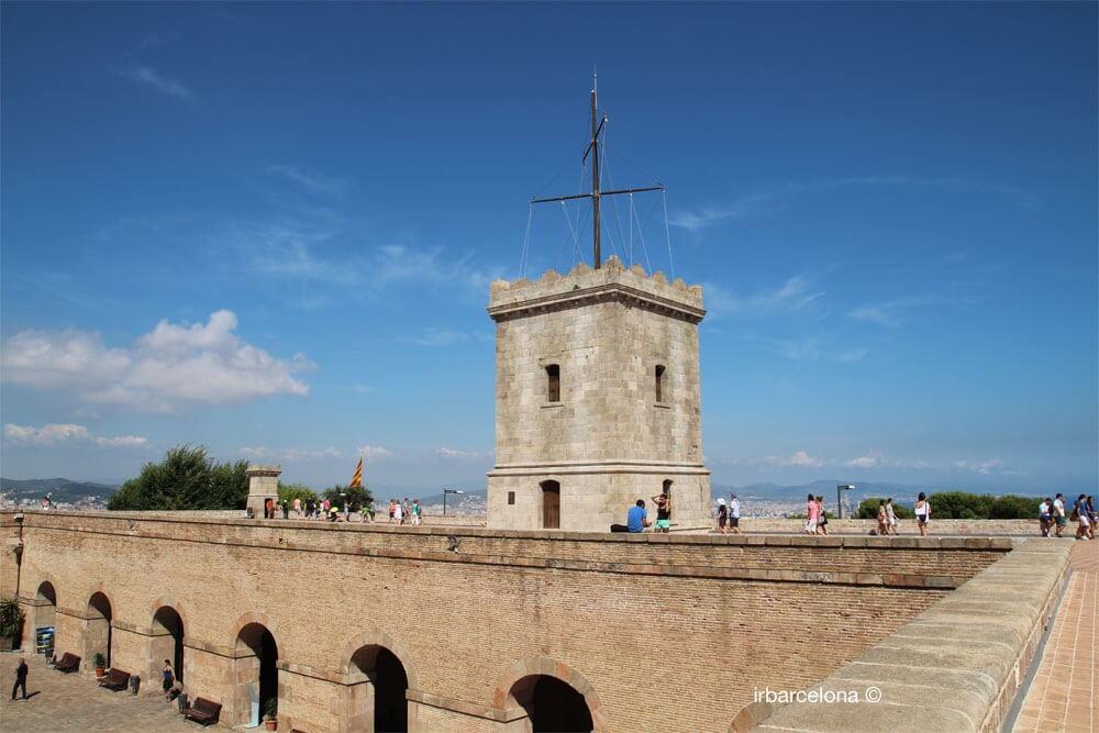 terrazza del Castello di Montjuïc
