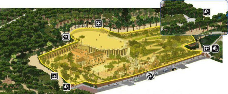 zona monumentale Park Güell