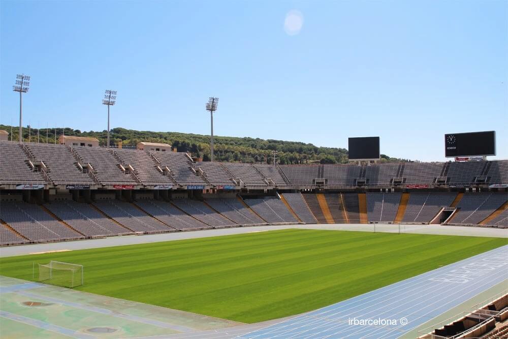 all'interno dello Stadio Olimpico di Barcellona