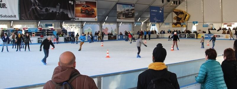 pista ghiaccio Barcellona