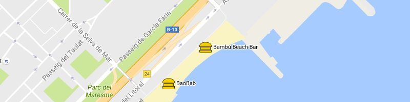 mappa Bambú Beach Bar