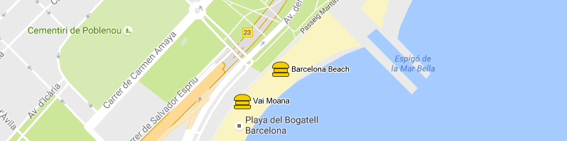 mappa Barcelona Beach