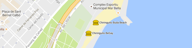 mappa Buda Beach