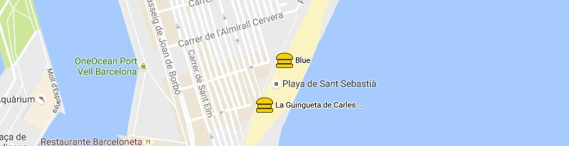 mappa Chiringuito Blue