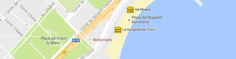 mappa La Guingueta Escribà