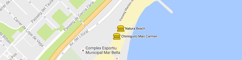 mappa Natura Beach