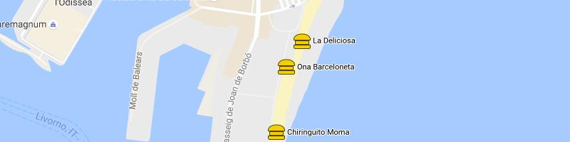 Mappa Ona Barceloneta
