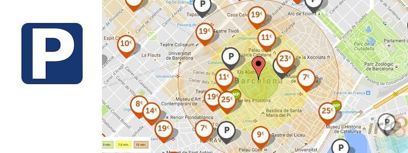 Cartina Barcellona Dettagliata.Dove Parcheggiare Barcellona Parcheggio Gratuito Pagamento Irbarcelona