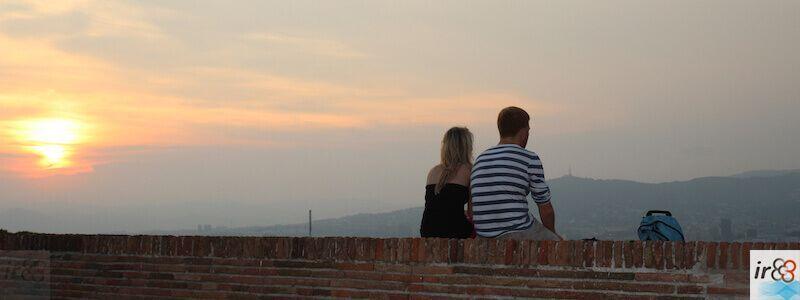 tramonto montagna Montjuïc