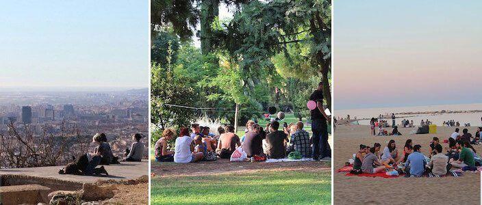 picnic a Barcellona