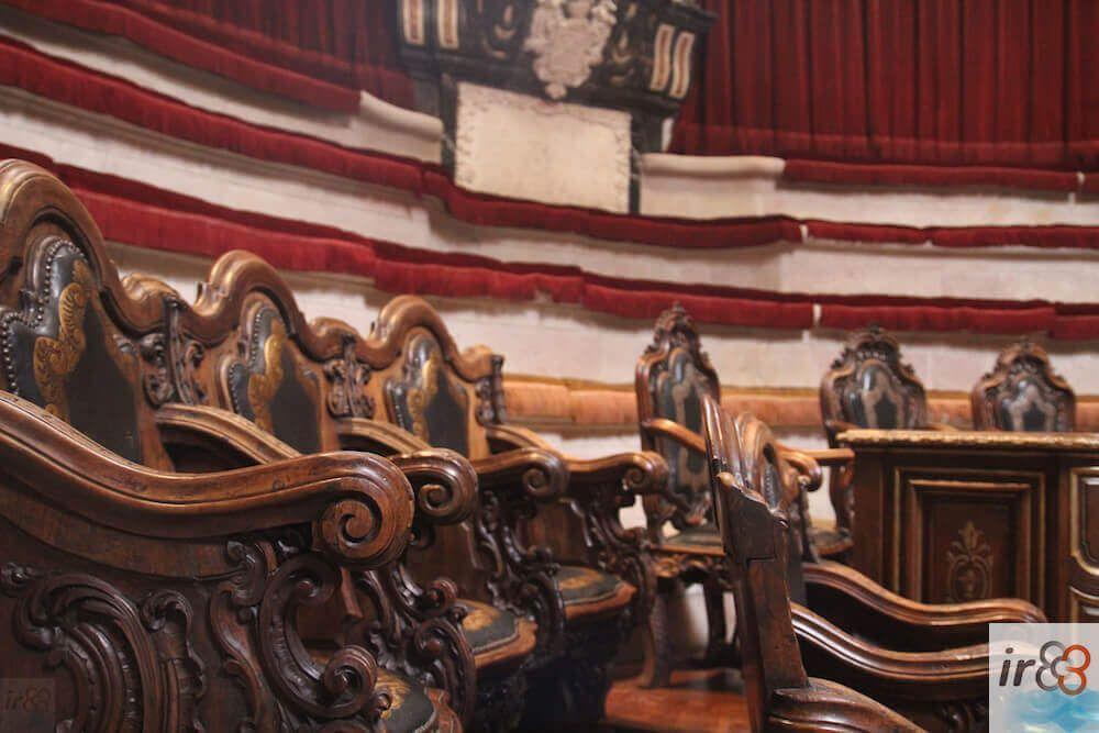 tribune di legno stile Roccocò Anfiteatro Anatomico