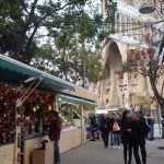 bancarelle Fiera di Natale della Sagrada Familia