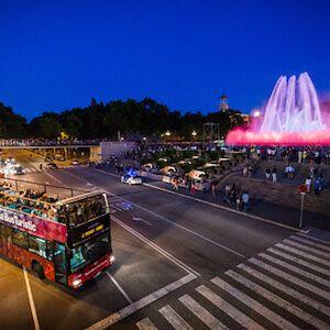 tour notturno con l'autobus turistico Barcellona